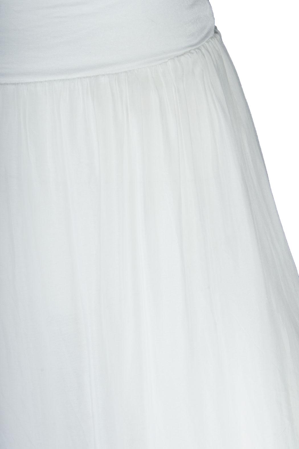 Damen Maxirock Langer Rock aus Seide mit Unterteil Weiß 40 42 44, 34,90 € 5b8a719df8
