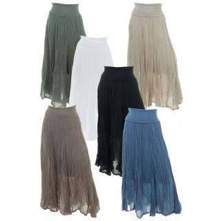 Maxirock Damen Baumwolle in vielen Farben mit elastischer Taille 38 40 42  ... 251b8dbd5a