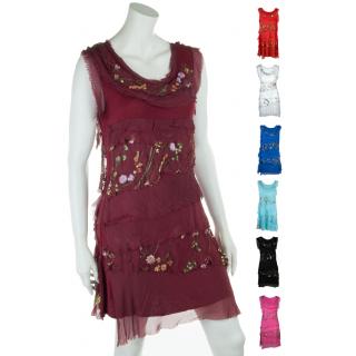 Leichtes Sommerkleid für Damen mit Seide Blumenmuster Viele Farben 36 38 40.  44 ... 9ce55da813