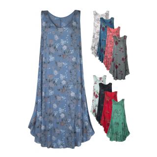 Leichtes Sommerkleid für Damen Maxi-Kleid Viskose Viele Farben 40 42 44 cf6bcc8b69