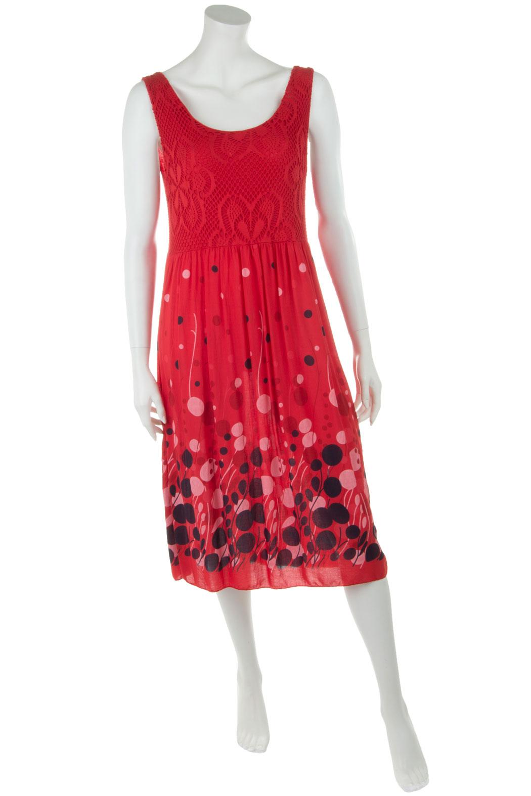 Leichtes Sommer-Kleid für Damen Viskose Rot 36 38 40, 26,90