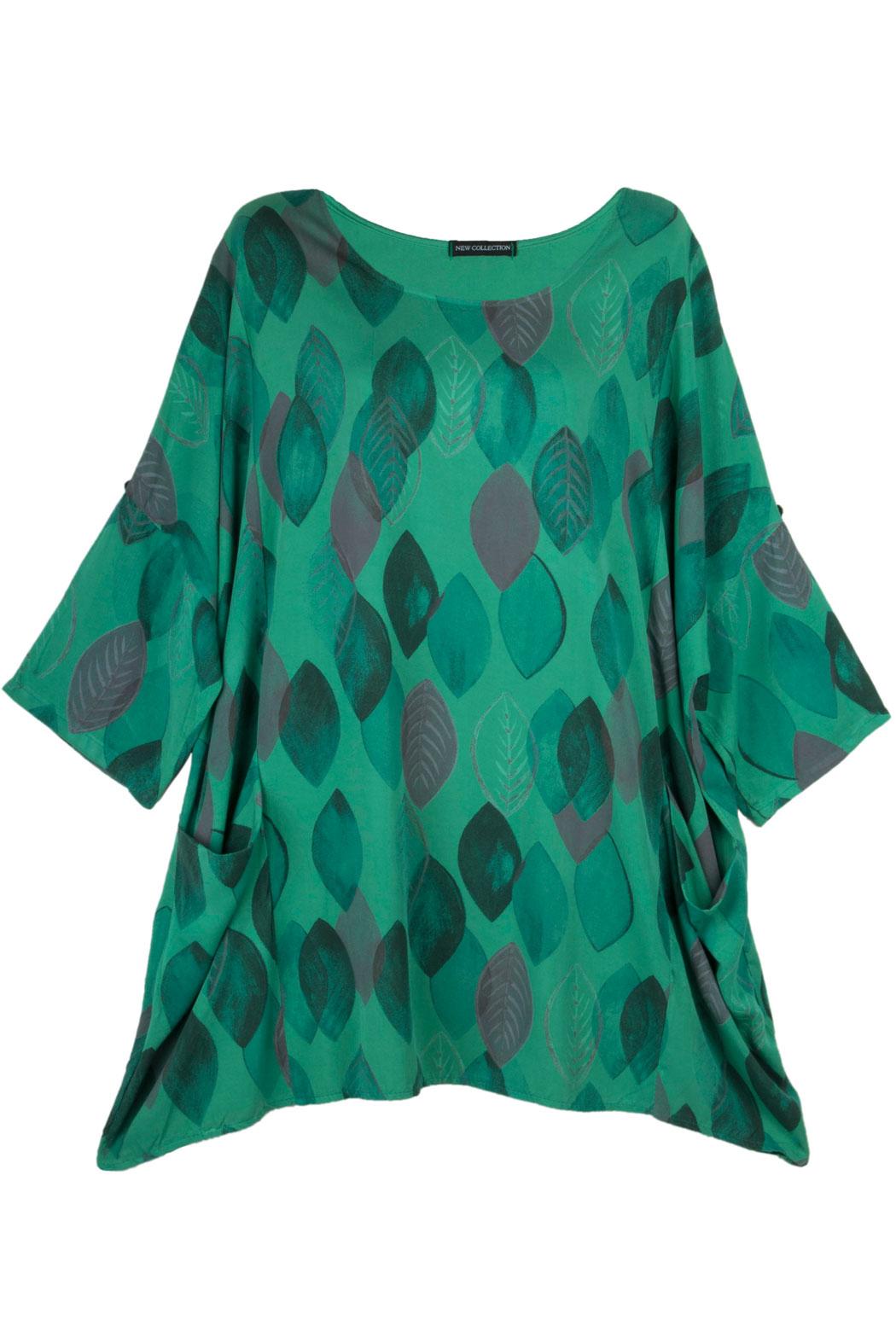 30afe73b055451 Tunika Shirt Damen Viskose Halbarm Oversize Edel Viele Farben 46 48, 29,90 €
