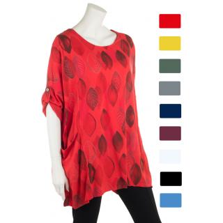 e37710ecba8490 Tunika Shirt Damen Viskose Halbarm Oversize Edel Viele Farben 46 48 ...