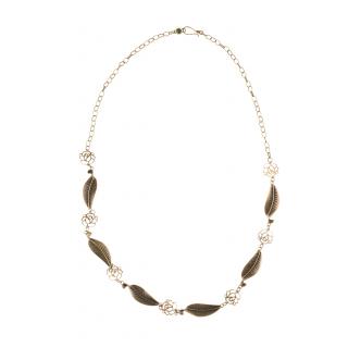 Professionel erster Blick unverwechselbarer Stil Cara Mia Halskette für Damen Edle Kette mit Blättern und Ornamenten