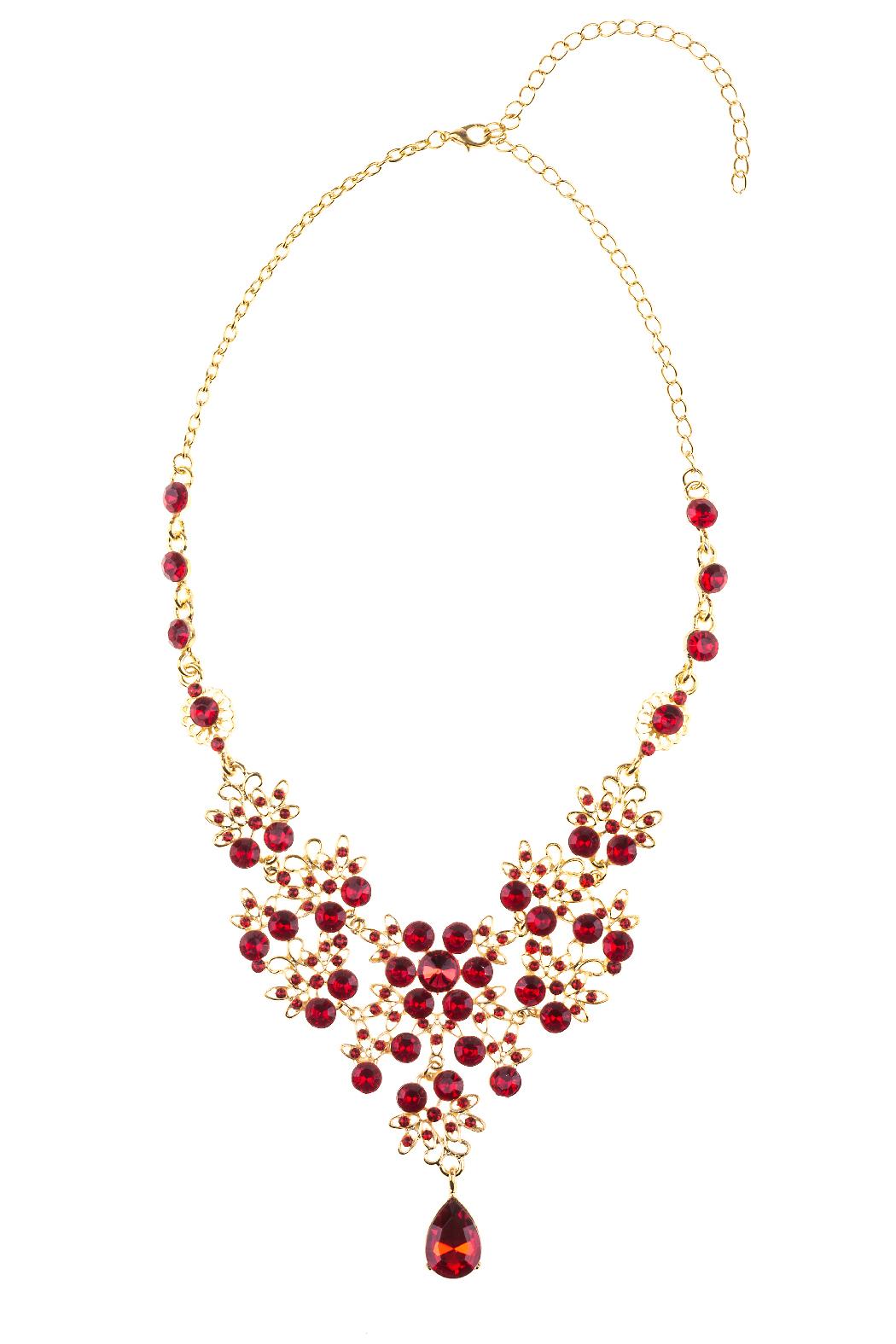 günstigen preis genießen neu billig speziell für Schuh Cara Mia Halskette für Damen sehr edle Statementkette in gold und rot