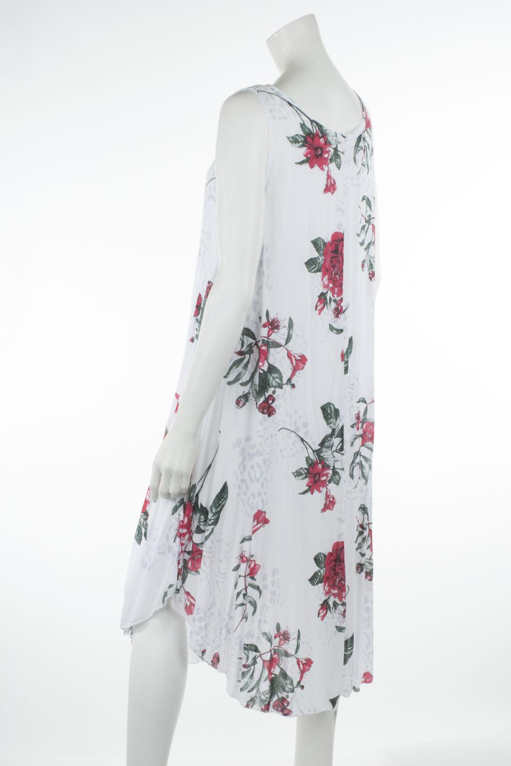 Leichtes Sommerkleid für Damen Maxi-Kleid Viskose Weiß ...